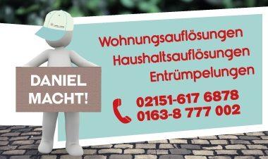 Haushaltsauflösung, Entrümpelung, Seniorenumzug Willich | Daniel macht